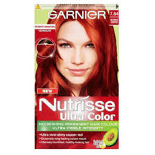 Nutrisse intense copper red to brighten up the patchy areas.